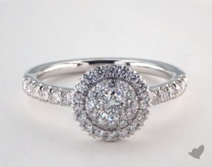 Royal Halo Single Pave Halo Engagement Ring