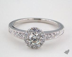 Royal Halo Vintage Inspired Milgrain Engagement Ring