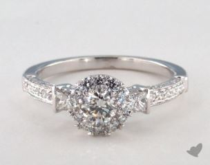 Royal Halo Princess and Pave Engagement Ring