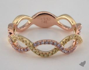 18K Rose and Yellow Gold Pave Infinity Ring