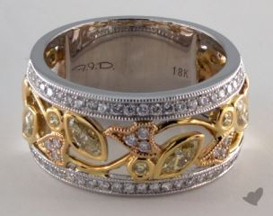 18K White & Yellow Gold 1ctw Marquise Diamond Ring