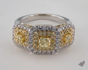 18K White and yellow -  - Radiant - Yellow Diamond