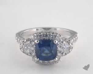 18K White Gold - 1.98ct  - Blue