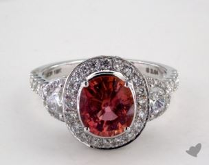 18K White Gold - 2.04ct  - Pink