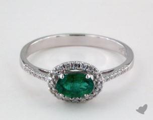 18K White Gold - 0.42tcw  - Green Earrings