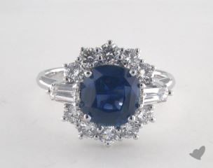 18K White Gold - 2.54ct  - Blue