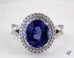 18K White Gold - 4.34ct  - Purple