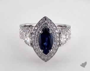 18K White Gold - 1.81ct  - Blue