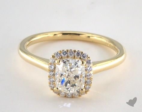 Cushion Cut Solitaire Engagement Rings Yellow Gold LqpziRU0 | Wedding Ring