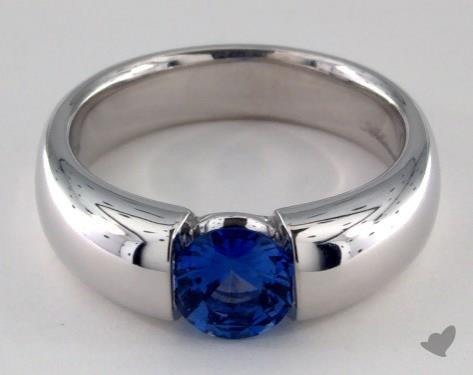 18K White Gold  Tension Engagement Ring
