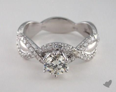18K White Gold  Mixed Metal Engagement Ring