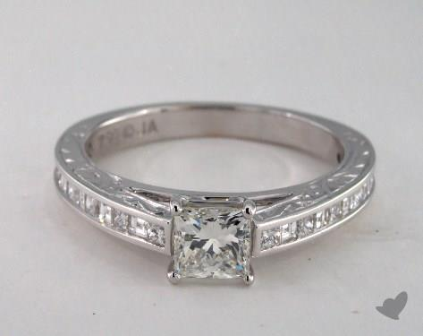 18K White Gold  Channel Set Engagement Ring