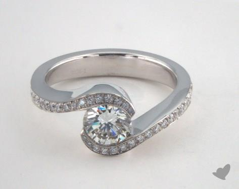 18K White Gold  Tension Engagement Ring
