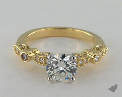 18K Yellow Gold  Vintage Engagement Ring