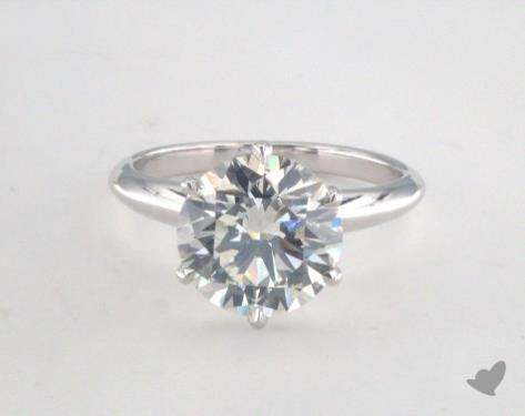 18K White Gold  Solitaire Engagement Ring