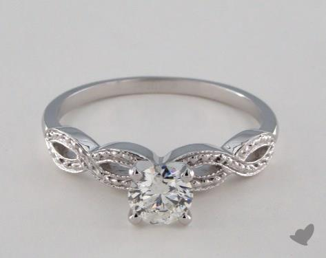 18K White Gold  Vintage Engagement Ring