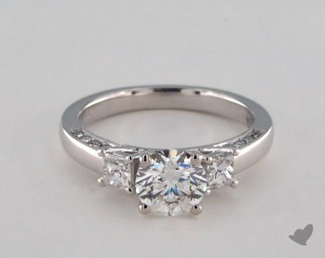 Platinum  Three Stone Engagement Ring