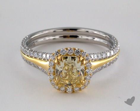 Platinum  Mixed Metal Engagement Ring