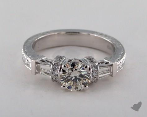 18K White Gold  James Allen exclusive Engagement Ring