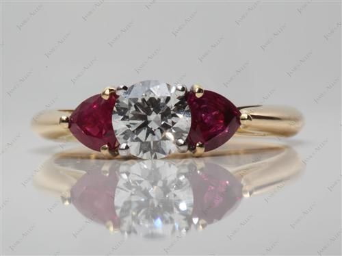 Gold  Ruby And Ring