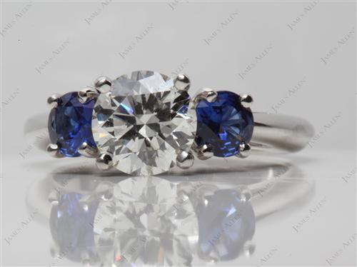 Platinum  Gem Stone Engagement Ring