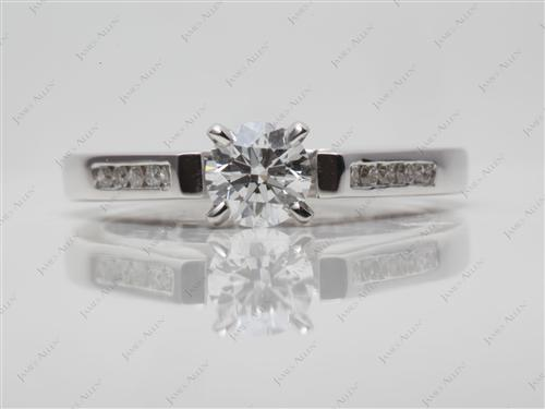 White Gold  Channel Setting Engagement Ring