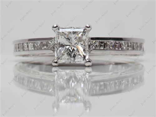 White Gold  Channel Setting Ring