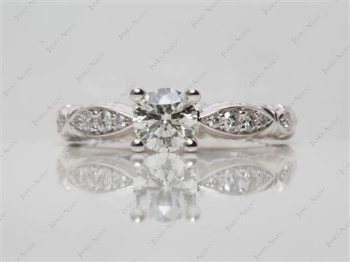 White Gold  Pave Ring Settings