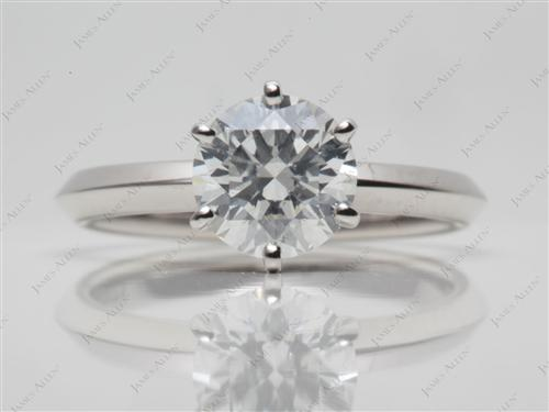 Platinum  Solitaire Ring