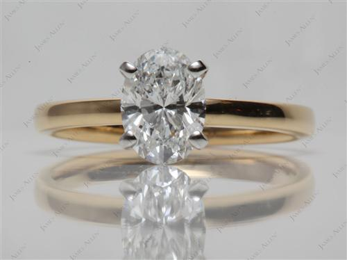 Gold  Solitaire Ring