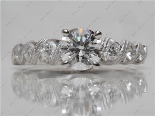 Platinum  Micro Pave Engagement Rings
