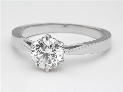 White Gold  Engagement Solitaire Rings
