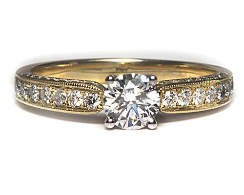 Gold  Pave Ring Mountings