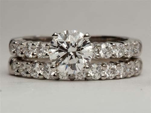 Platinum  Pave Wedding Sets