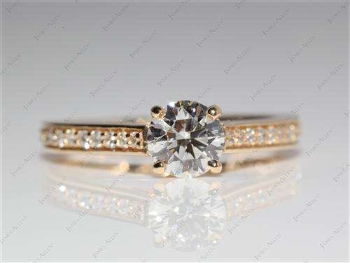 Gold  Pave Engagement Ring