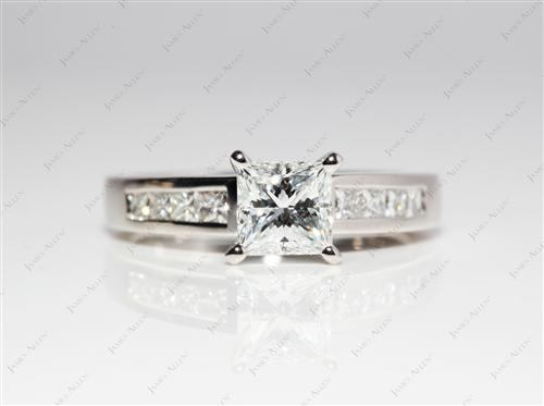 Platinum  Engagement Rings With Sidestones