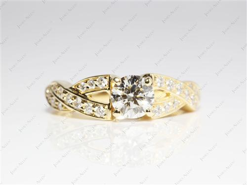 Gold  Pave Rings