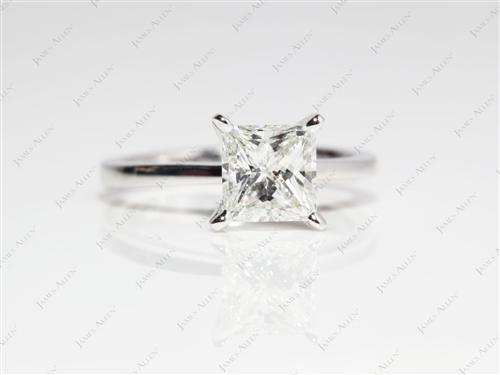 White Gold  Solitaire Ring Setting