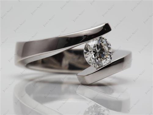 Platinum  Tension Engagement ring