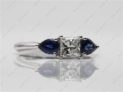 White Gold  Saphire Ring