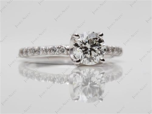 White Gold  Pave Ring Mountings