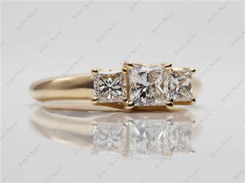 Gold  Three Stones Rings