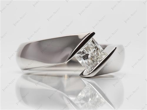 Platinum  Tension Mount Engagement rings