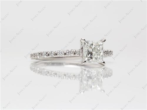 Platinum  Bridal Set Wedding Rings