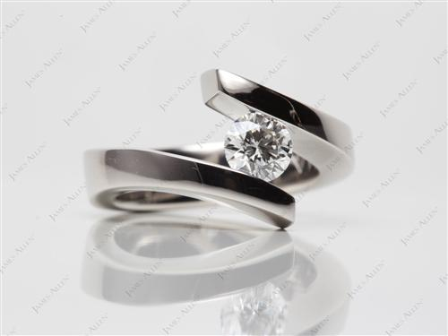 Platinum  Tension Set Ring