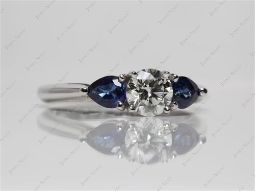 Platinum  Antique Ruby Rings