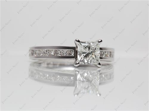 White Gold  Matching Wedding Sets