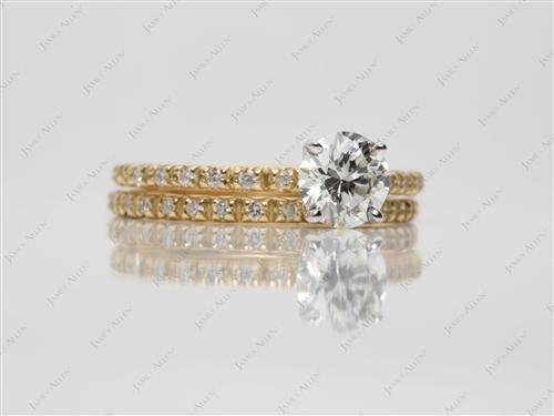 Gold  Bridal Wedding Ring Sets
