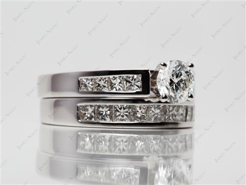 White Gold  Wedding Sets Jewelry