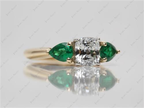 Gold  Emerald Cut Rings